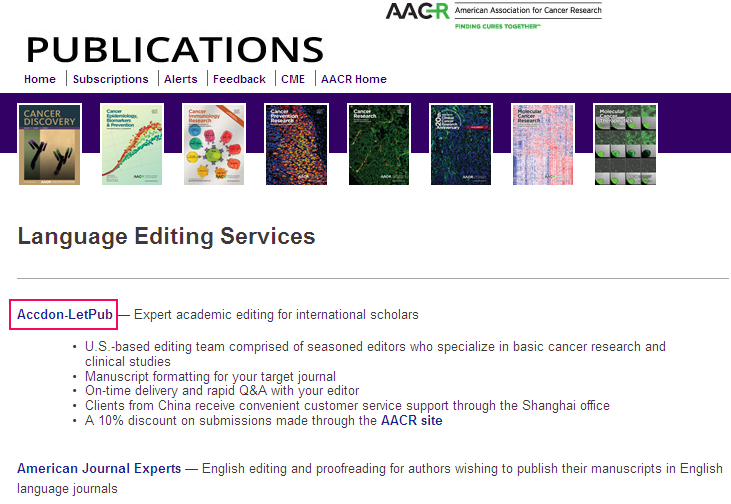 AACR Language-Editing